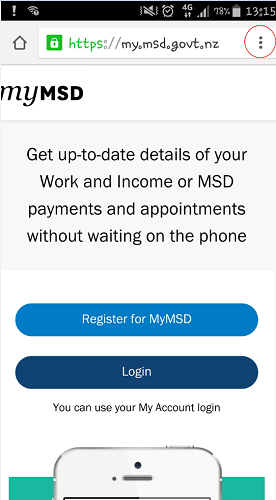 MyMSD bookmarking screenshot