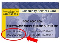 Image of Community Services Card
